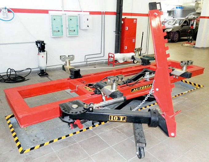 Кузовной ремонт фото стапель