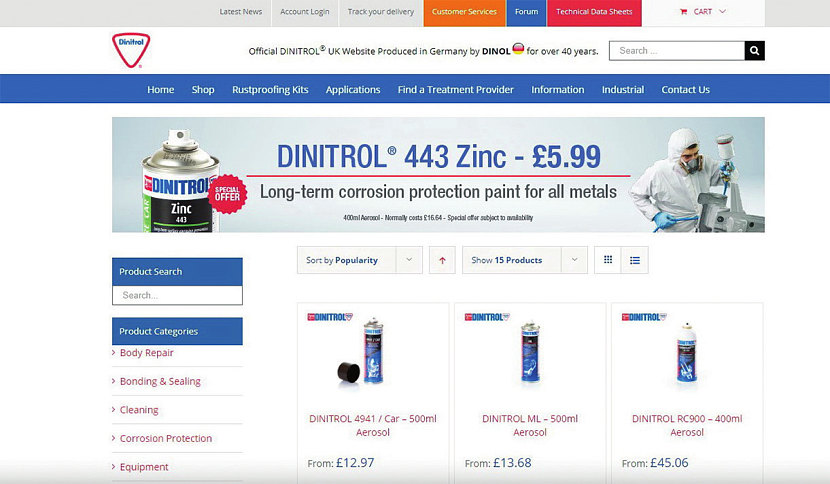 Интернет-магазин Dinitrol в Англии https://www.dinitroldirect.com/dinitrol-shop-product-ranges/