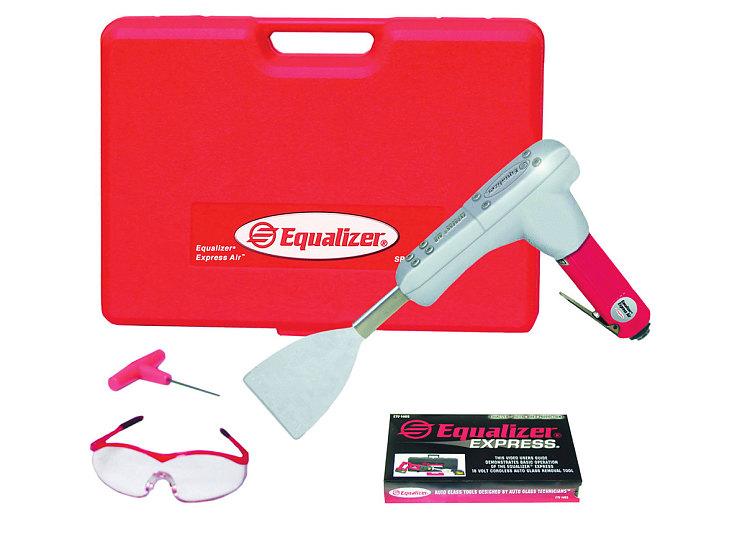 Пневматический нож для вырезания стекла. Им можно работать как изнутри, так и снаружи