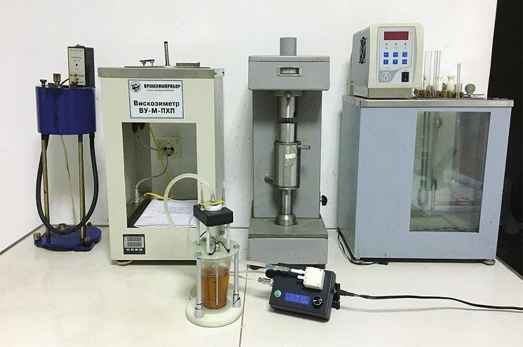 Рис. 2. Универсальный вискозиметр В-200 заменяет набор громоздких лабораторных вискозиметров